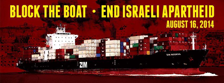 16 Ağustos eylemi çağrısı: Gemiyi durdur! İsrail apartheidine son!